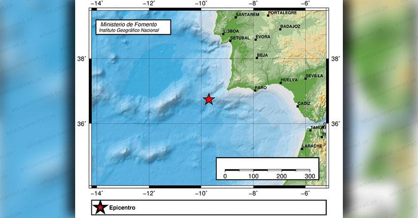 Fuerte sismo en España de Magnitud 3.6 (Hoy Sábado 1 Diciembre 2018) Temblor Epicentro - Cabo de San Vicente - Andalucía - IGN - www.ign.es