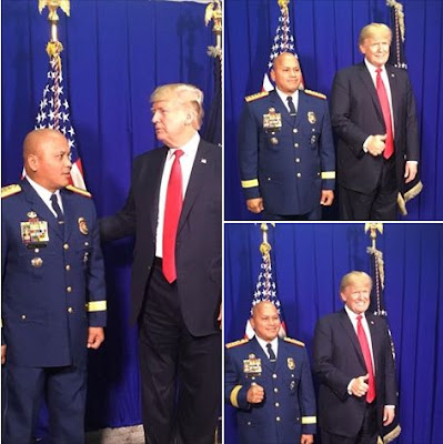Philippines' police chief Ronald Dela Rosa and Donald Trump.