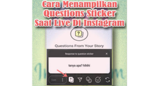 Live Instagram menampilkan Question Sticker