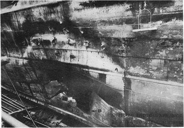 Torpedo damage to USS Saratoga, 11 January 1942 worldwartwo.filminspector.com