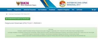Pendaftaran CPNS 2017 https://sscn.bkn.go.id