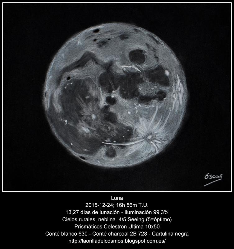 La orilla del Cosmos Luna Llena de Navidad
