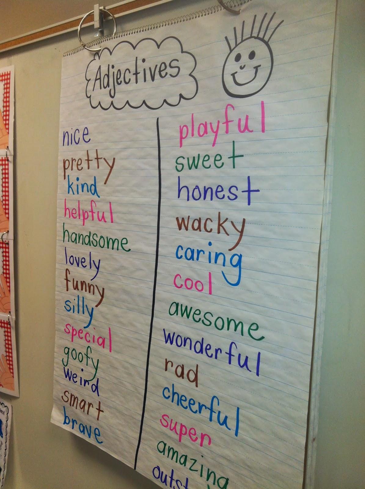 Mrs Wheeler S First Grade Tidbits Adjectives