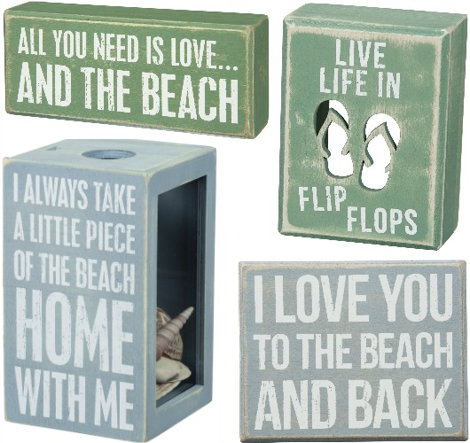 Beach Quote Box Signs