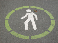 Green Circled Pedestrian Walk