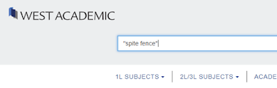 "West Academic search bar showing search term ""spite fence""."