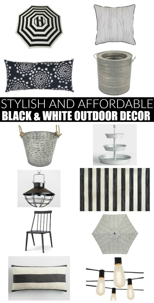 Stylish and Affordable Black and White Outdoor Decor.