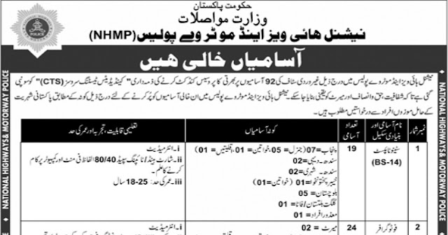 National Highways & Motorway Police Jobs 2020 Apply Now