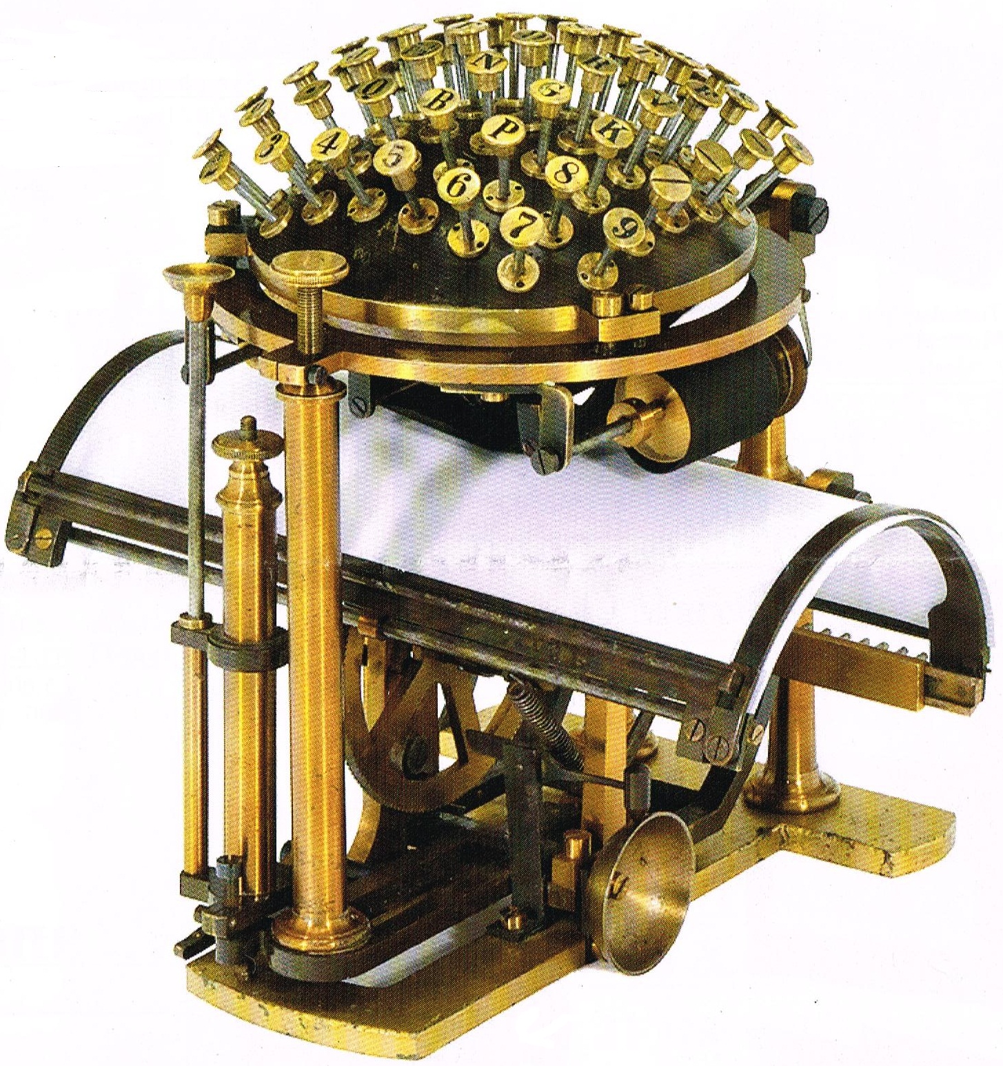 Ball typewriter