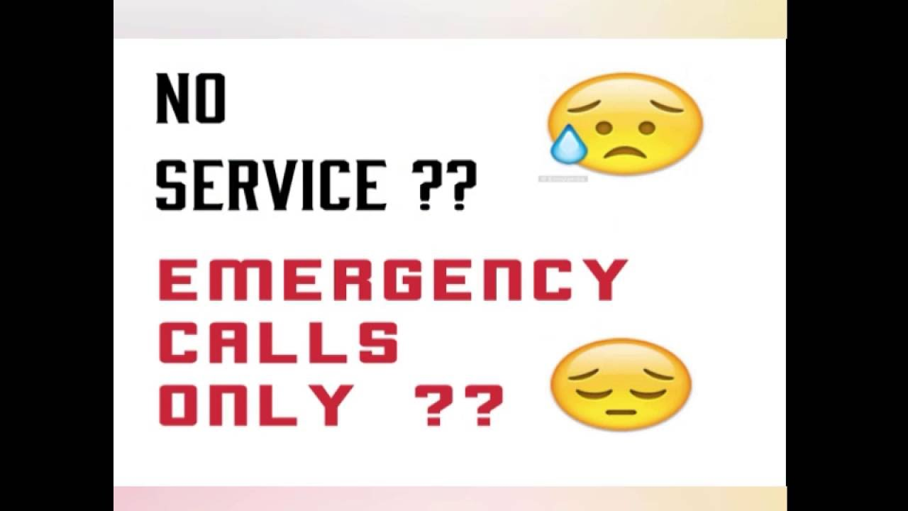 samsung J120G 4g emergency calls only / no service problem slove