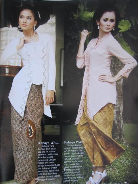Model Kebaya Batik Kartini Modern Terbaru