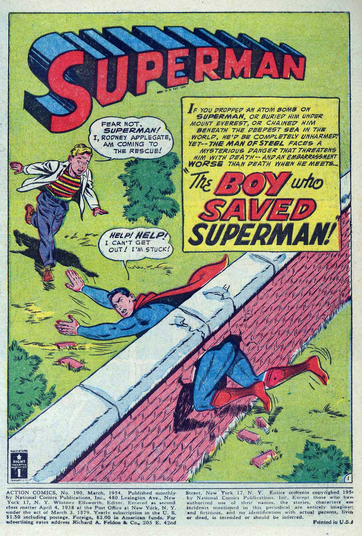 Action Comics (1938) 190 Page 2