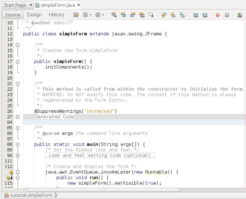 Tampilan Source Code pada Preject