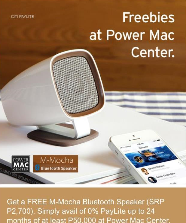Power Mac Center's latest promo with Citibank