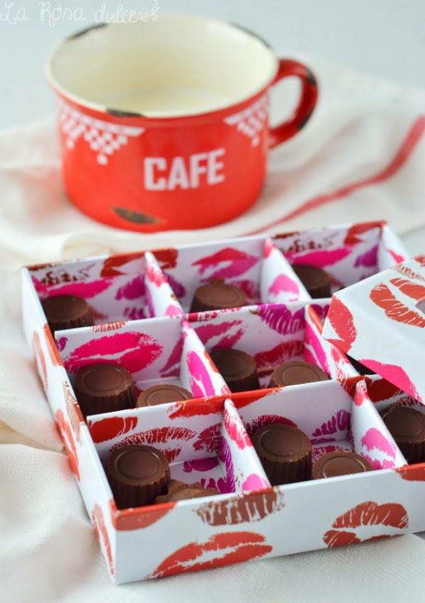bombones rellenos de crema de cacao sin lactosa