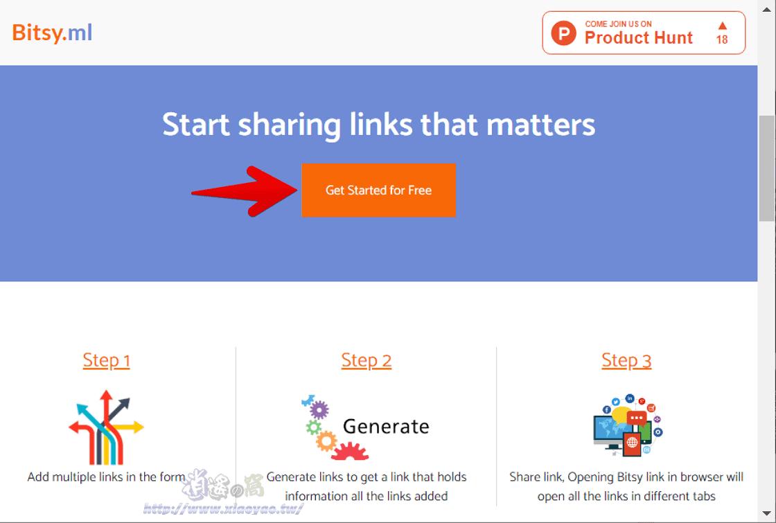 Bitsy.ml 幫多個網址建立單一連結