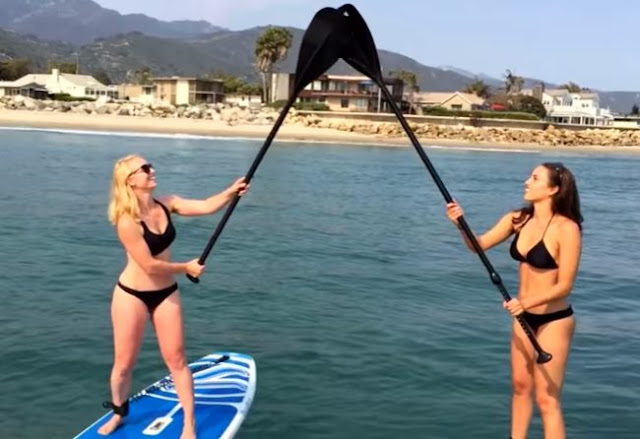 They Saw Something Scary Lurking Underwater When  They Were in Paddleboarding