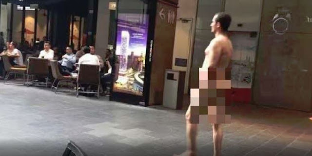 A Man Was Seen Roaming Around A Shopping Mall In Kuala Lumpur FULLY NAKED!