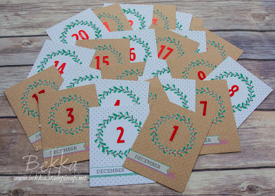 The lazy crafter's advent calendar featuring Hello December 2016 Project Life collection from Stampin' Up! UK