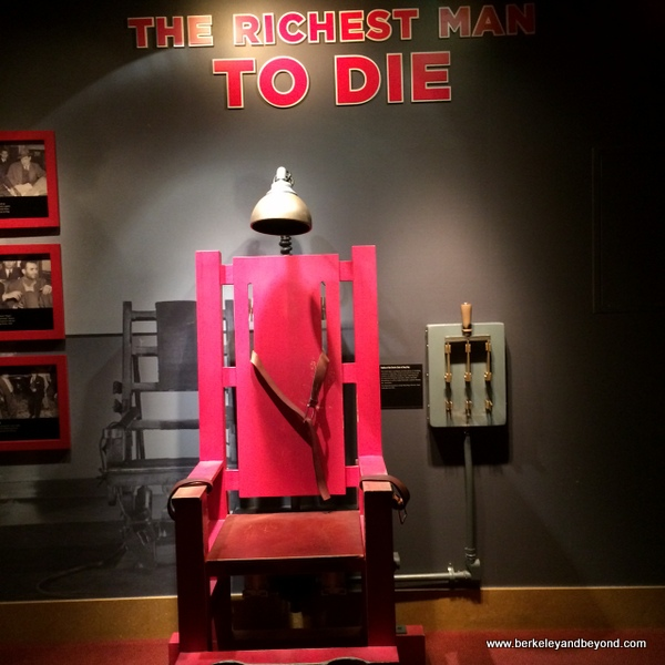 the electric chair at The Mob Museum in Las Vegas, Nevada