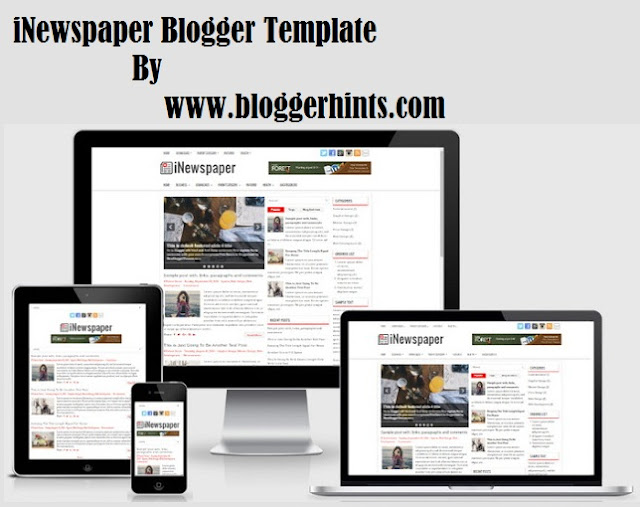 iNewspaper Blogger SEO Friendly Template