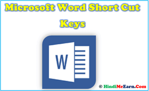 Microsoft Word Shortcut Keys Hindi