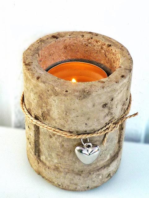 Kerzenhalter aus Torfbeton, Selbstgemachtes Hypertufa