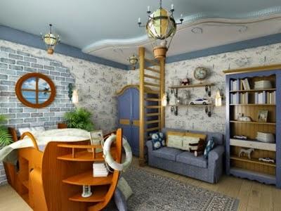 dormitorio temático piratas