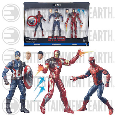 "Captain America: Civil War Marvel Legends 6"" Action Figure 3 Pack – Captain America, Iron Man & Spider-Man"