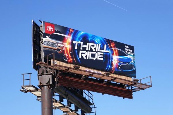 Thrill ride Toyota car billboard