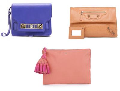 Proenza Schouler PS11 Clutch, Balenciaga Envelope Clutch and Anya Hindmarch Georgiana Zip-Top Clutch