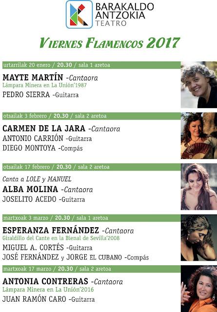 Cartel del ciclo de flamenco