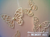CAS butterfly card in white detail
