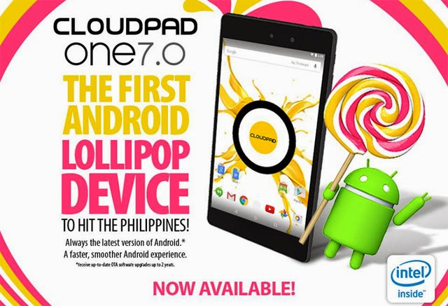 CloudFone CloudPad One 7.0 – First Android 5.0 Lollipop Tablet from a Local Brand in the Philippines