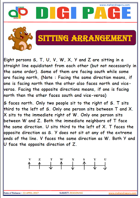 DP | SITTING ARRANGEMENT | 22 - APR - 17 | IMPORTANT FOR SBI PO