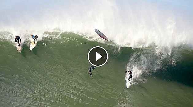 CRASHES AND BURNS A Mavericks Wipeout Reel