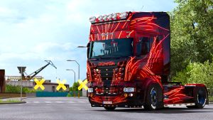 Lines of Flames by EviL for Scania RJL