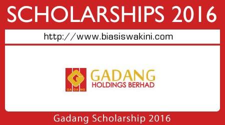 Gadang Scholarship 2016
