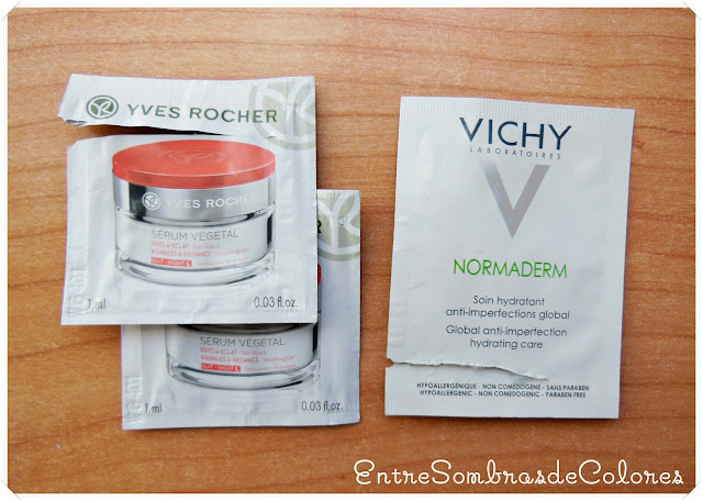 Sérum vegetal Yves rocher y crema Normaderm Vichy