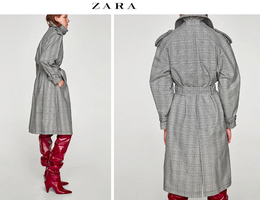 Modna w sezonie krata w Zara