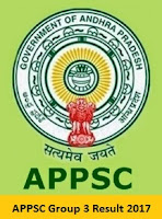 APPSC Group 3 Result 2017