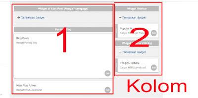 Cara Membuat 2 dan 3 Kolom Footer di Blogger