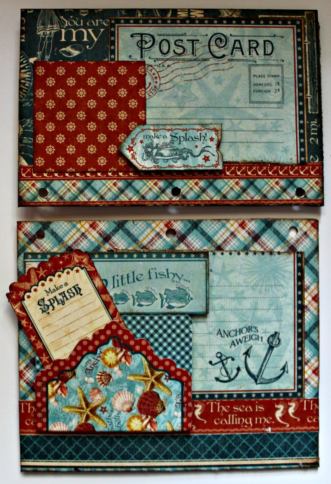 Scrapbook flair pam bray designs by the sea waterfall for Waterfall design in scrapbook