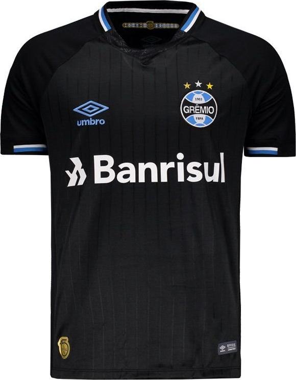 490b6e910b A Umbro apresentou a nova terceira camisa que o Grêmio Foot-Ball Porto  Alegrense usará na Série A do Campeonato Brasileiro e na Copa Libertadores  em 2018.