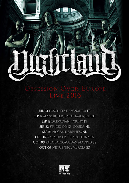 "NIGHTLAND: ""Obsession Over Europe"" - Tour A Settembre"