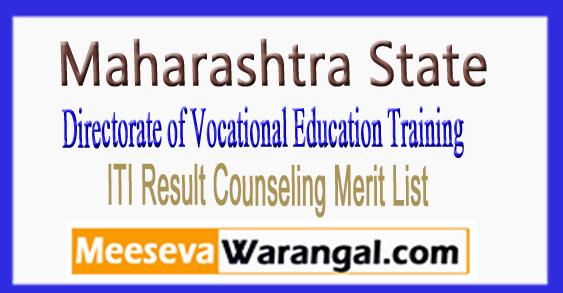 Maharashtra DVET ITI Result Counseling Merit List 2018