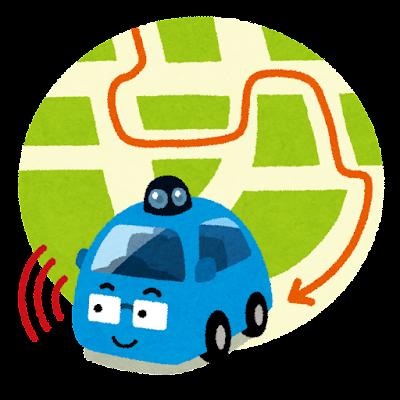 ロボットカー・自動運転車のイラスト