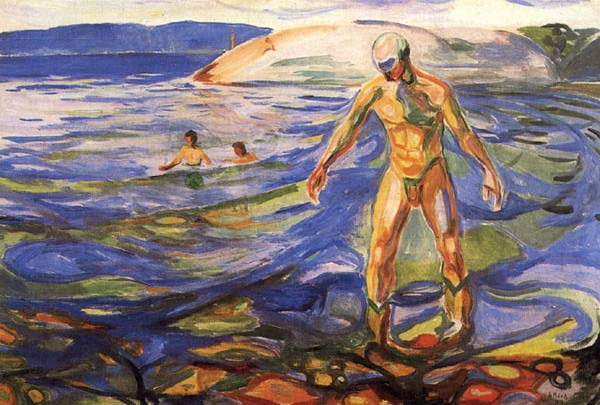 Bathing Man, Edvard Munch (1918)