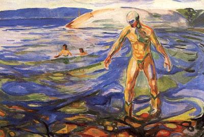 Bathing Man, Edvard Munch (1918)