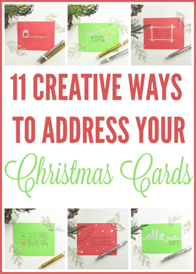 Unique Ways To Decorate Living Room: 11 Creative Ways To Address Christmas Cards